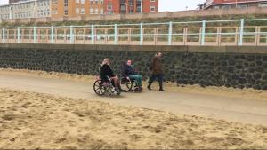 stad door de ogen vaneen rolstoelgebruiker